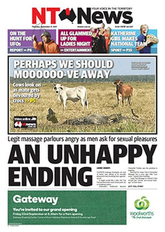 Northern Territory News - Image: NT News