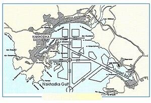 Nakhodka Bay - Map of Nakhodka Bay
