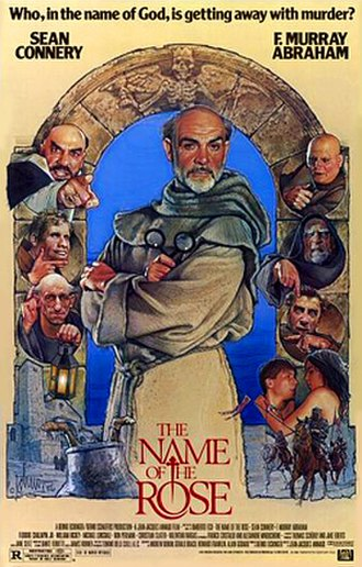 The Name of the Rose (film) - Original film poster by Drew Struzan