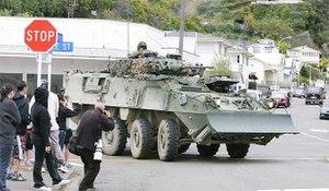 2009 Napier shootings - Image: Napier tank