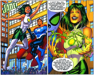 Jade (comics) - The new Jade, Nicki Jones, is introduced. Art by Chris Batista.