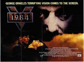 Nineteen Eighty-Four (1984 film) - UK theatrical release poster