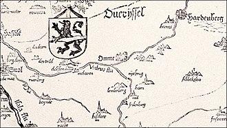 Lemele - A map from 1559 showing the Lemelerberg
