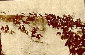 History of Oklahoma - Photo of one of Oklahoma's land runs