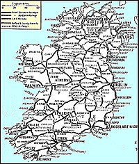 picture regarding Printable Road Map of Ireland named Historical past of rail shipping in just Eire - Wikipedia