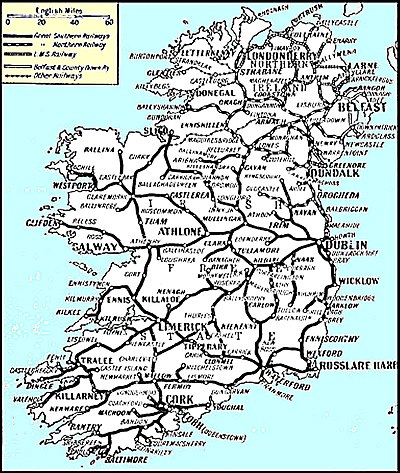 Rail Map Of Ireland.History Of Rail Transport In Ireland Wikiwand