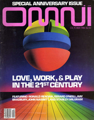 Omni (magazine) - Cover of the October 1984 edition.