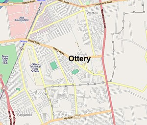 Ottery, Cape Town - Image: Ottery map