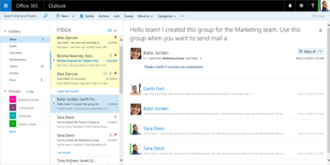 Outlook on the web - Image: Outlook on the web inbox