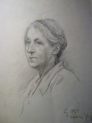 Rosamond Praeger - Image: Pencil portrait of EM Rope by SR Praeger 27 Sept 1929