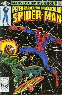 Peter Parker The Spectacular Spider-Man (no. 56, front cover).jpg