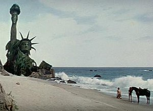 Point Dume - Important scenes in the Planet of the Apes series were filmed at Point Dume. The cliff face of the Point is obscured by the matte painting of the Statue of Liberty.