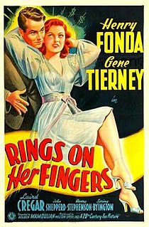 <i>Rings on Her Fingers</i> 1942 film by Rouben Mamoulian