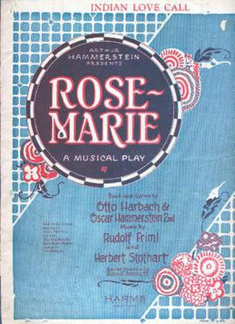 Rose-Marie - Sheet music cover