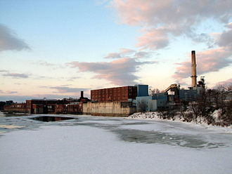 Winslow, Maine - Scott Paper mill (originally Hollingsworth & Whitney) 10 years after the Kimberly Clark closing