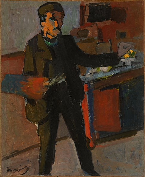 File:Self-portrait in studio by André Derain.jpg