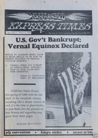 San Francisco Express Times - Cover of the March 21, 1968 issue