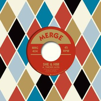Thieves (song) - Image: She and Him Thieves record cover