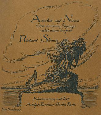 Ariadne auf Naxos - 1916 vocal score
