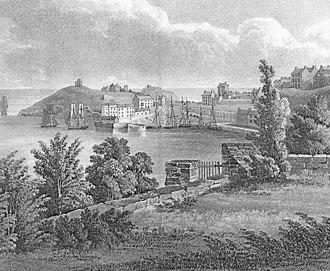 Charles Norris (etcher) - Tenby Harbour, 1817. Charles Norris