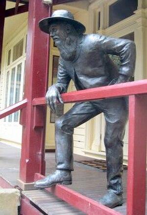 The Man from Ironbark - The Man from Ironbark  bronze sculpture by Tessa Wallis