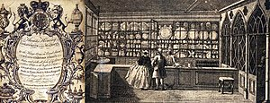 Heming (company) - Image: Thomas Heming shop interior and trade card c.1765