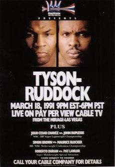 Mike tyson vs donovan ruddock wikipedia