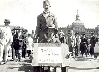 Rag (student society) -   University of Pretoria welcoming of first years in Pretoria's Church Square in 1910