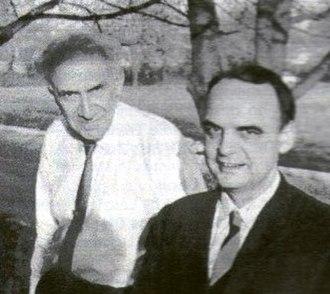Alfred de Grazia - de Grazia (right) and Immanuel Velikovsky in 1964