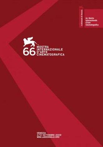 66th Venice International Film Festival - Festival poster