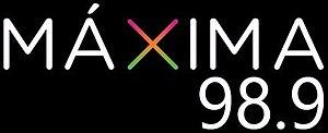 XHCMN-FM - Image: XHCMN Maxima 98.9 logo
