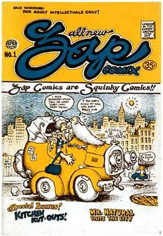 Underground comix - The cover artwork for the first  issue of Zap Comix, featuring the character Mr. Natural.