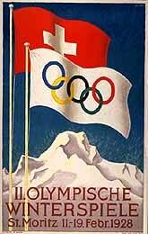 1928 Winter Olympics poster