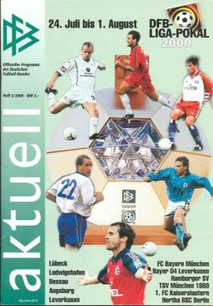 2000 DFB-Ligapokal - Tournament programme cover