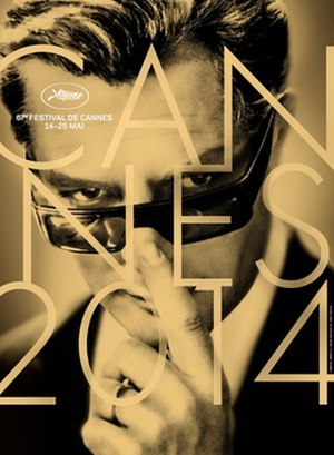 2014 Cannes Film Festival - Official poster of the 67th Cannes Film Festival featuring a photo of Marcello Mastroianni from Federico Fellini's 1963 film 8½