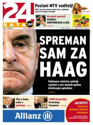 24sata (Croatia) - Cover of the 2 March 2005 issue