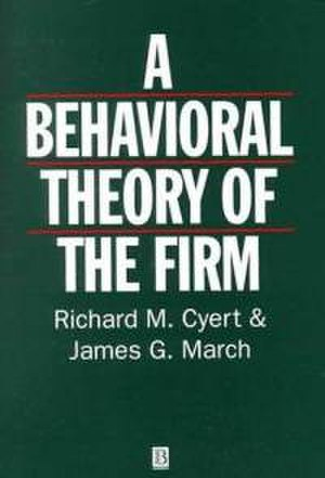 A Behavioral Theory of the Firm - Cover of the second edition