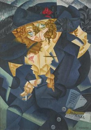 Robert René Meyer-Sée - Gino Severini, Abstract rhythm of Mrs. M.S. (Ritmo astratto di Madame M.S.), 1915. Oil on canvas.