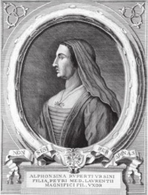Alfonsina Orsini - Portrait of Alfonsina by Francesco Allegrini 1761