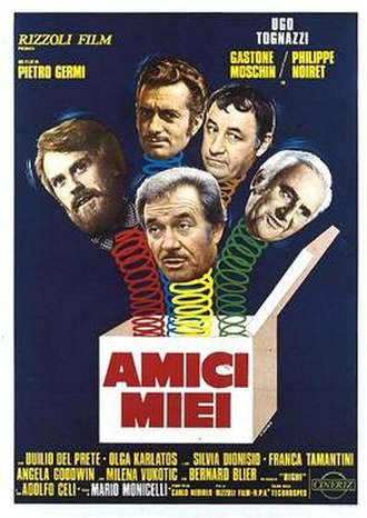My Friends (film) - Italian theatrical release poster by Renato Casaro