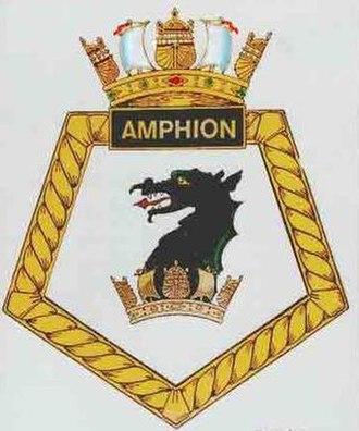 HMS Amphion (P439) - Image: Amphion badge