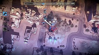 "Tower defense - In Anomaly: Warzone Earth, the tower defense formula is switched to ""tower attack"""