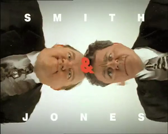 Alas Smith and Jones - Title card from final opening sequence