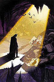 The destroyed Batcave. Cover to Batman: Shadow of the Bat #79 (1998). Art by Glen Orbik.