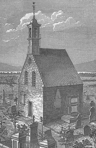 Saint Inan - Beith Kirk in 1876, built on the site of Saint Inan's chapel.