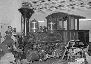 Gerald M. Best - Gerald M. Best's steam engine, the Olomana, at the Smithsonian.  The engine is currently on loan to the Railroad Museum of Pennsylvania.