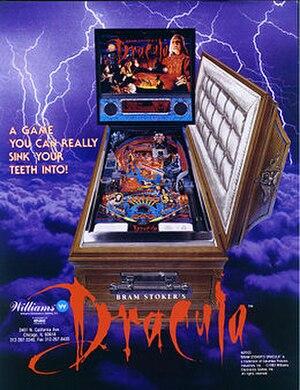 Bram Stoker's Dracula (pinball) - Image: Bram Stoker's Dracula pinball machine flyer