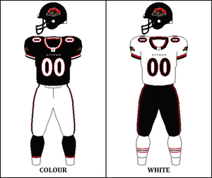 Ottawa Renegades - Ottawa Renegades uniform: 2002–2004