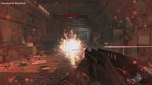 Call of Duty: Black Ops - A screenshot of Alex Mason firing a SPAS-12 Dragon's Breath round.