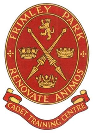Cadet Training Centre, Frimley Park - Image: CTC Frimley Park logo
